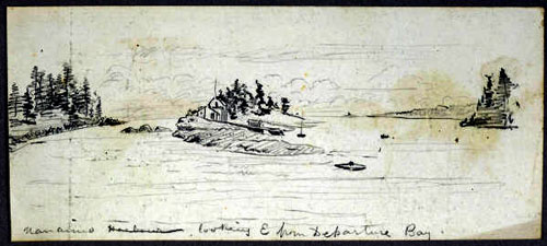 DepartureBay Historical drawings of Nanaimo by Heyward Seton Karr