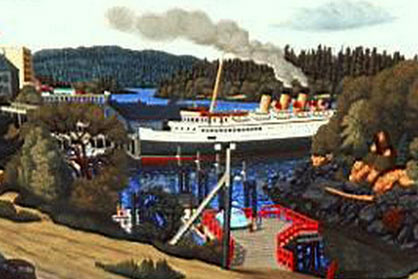 Nanaimo Harbour by E.J. Hughes