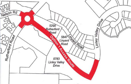 Option One - Linley Valley Development road access