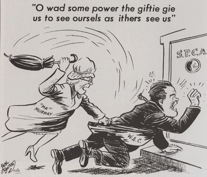 Ma Murry political cartoon 1967