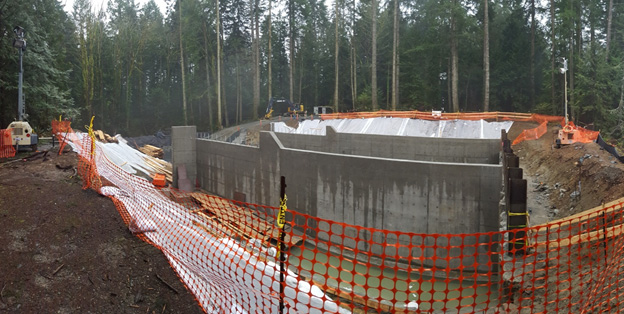 Colliery Dam - spillway concrete pour