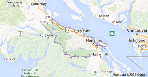 Regional District of Nanaimo - covers mid Vancouver Island