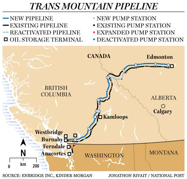 Trans Mountain Pipeline Expansion route