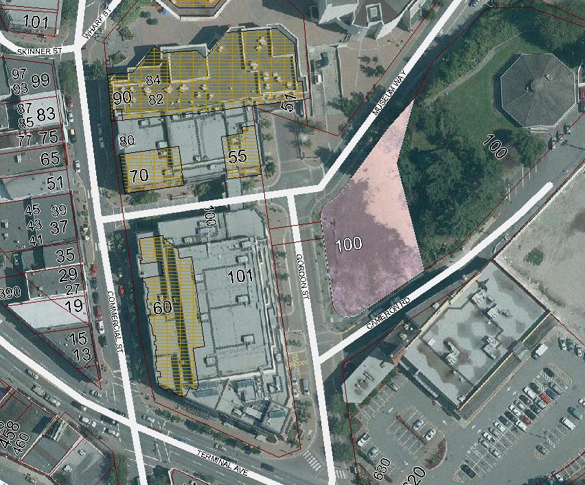 100 Gordon Street - potential site of conference centre hotel (adjacent to No. 1 mine shaft)
